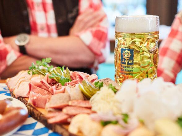 Oktoberfest in the beer garden
