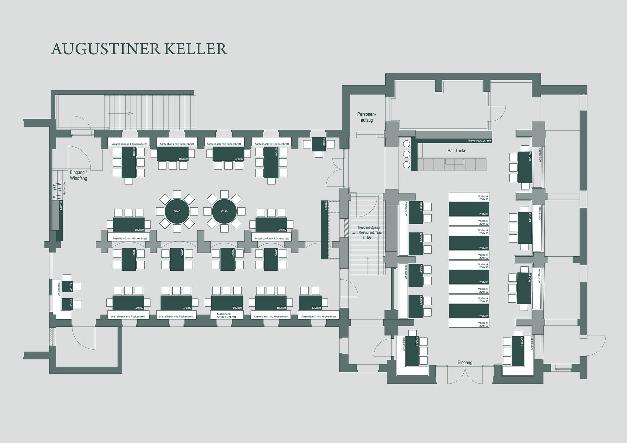 Raumplan Keller Zollpackhof
